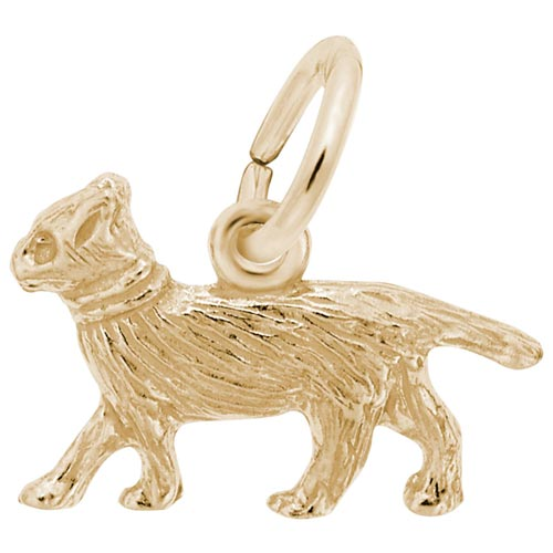 10K Gold Walking Cat Accent Charm by Rembrandt Charms