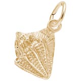 Gold Plate Small Conch Shell Charm by Rembrandt Charms