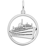 Sterling Silver Ringed Cruise Ship Charm by Rembrandt Charms