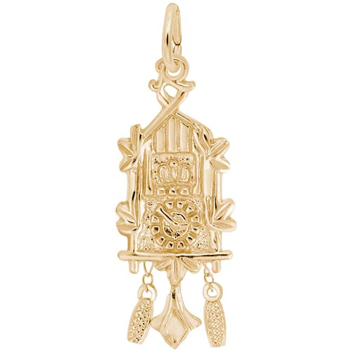 14K Gold Cuckoo Clock Charm by Rembrandt Charms