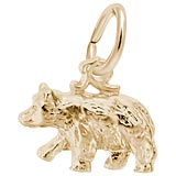 Gold Plate Black Bear Accent Charm by Rembrandt Charms