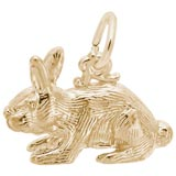 Gold Plate Rabbit Charm by Rembrandt Charms