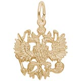 10K Gold Russian Eagle Charm by Rembrandt Charms