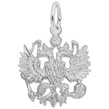 14K White Gold Russian Eagle Charm by Rembrandt Charms
