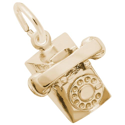 14K Gold Rotary Phone Charm by Rembrandt Charms