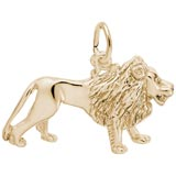 Gold Plate Lion Charm by Rembrandt Charms