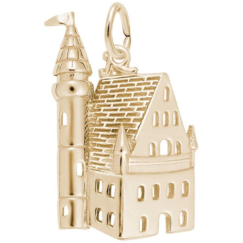 14K Gold Castle Charm by Rembrandt Charms