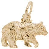Gold Plate Black Bear Charm by Rembrandt Charms