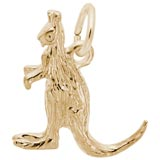 Gold Plate Kangaroo Charm by Rembrandt Charms