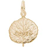 14K Gold Aspen Leaf Charm by Rembrandt Charms