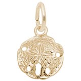 Gold Plate Sand Dollar Accent Charm by Rembrandt Charms