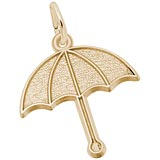 14K Gold Umbrella Charm by Rembrandt Charms