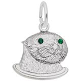 Sterling Silver Sea Otter (green) Charm by Rembrandt Charms