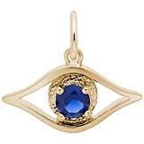 Gold Plate Evil Eye Charm by Rembrandt Charms