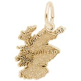 10K Gold Scotland Map Charm by Rembrandt Charms