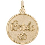 Gold Plate Bride Disc Charm