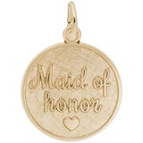 Gold Plate Maid of Honor