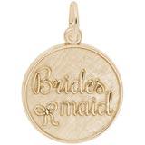 Gold Plate Bridesmaid Disc Charm