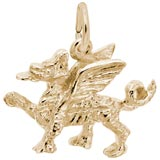 Gold Plate Griffin Charm by Rembrandt Charms