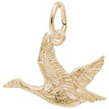 10K Gold Canada Goose Charm by Rembrandt Charms