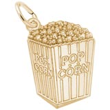 Gold Plated Popcorn Charm by Rembrandt Charms
