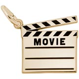 14k Gold Movie Clap Board Charm by Rembrandt Charms