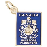 10K Gold Canadian Passport Charm by Rembrandt Charms