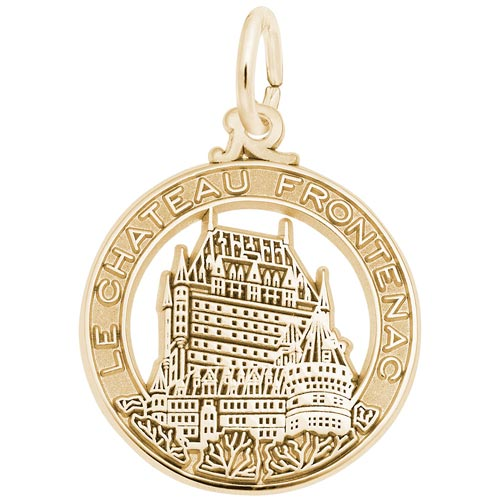 14K Gold Chateau Frontenac Charm by Rembrandt Charms