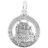 14K White Gold Chateau Frontenac Charm by Rembrandt Charms