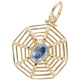 Gold Plated Spider Web Charm by Rembrandt Charms