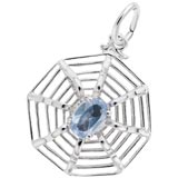 Sterling Silver Spider Web Charm by Rembrandt Charms
